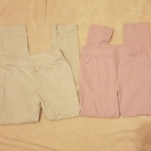 Girl's Leggings 2 pairs size 5 Gymboree & Carter's